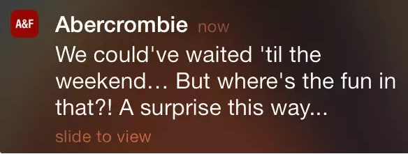 using humor in push notifications