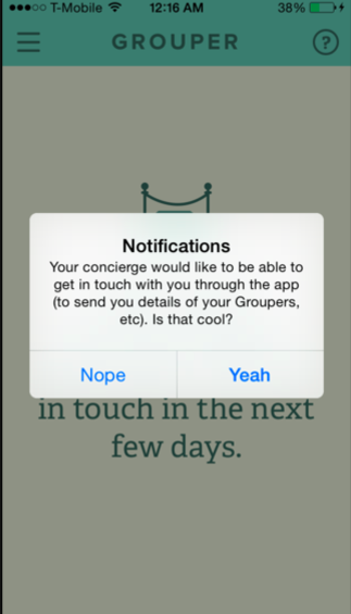 grouper app push notifications