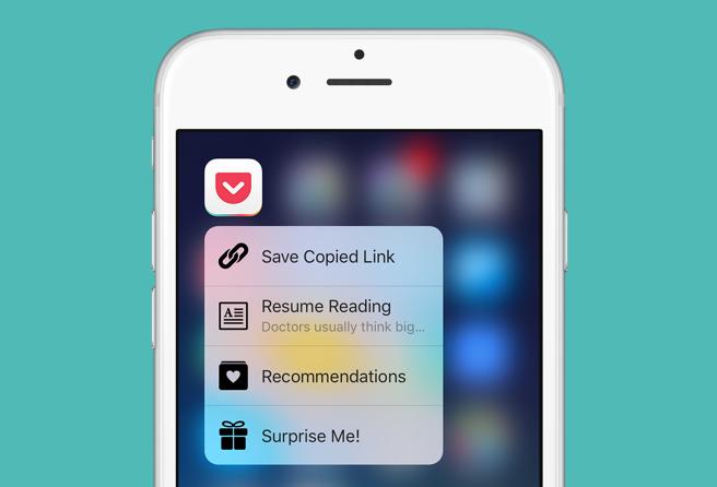 Pocket app features