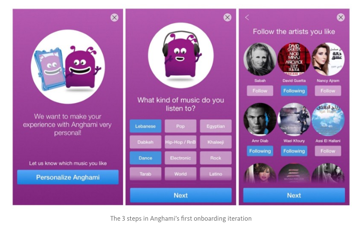 Anghami Onboarding Pre-testing