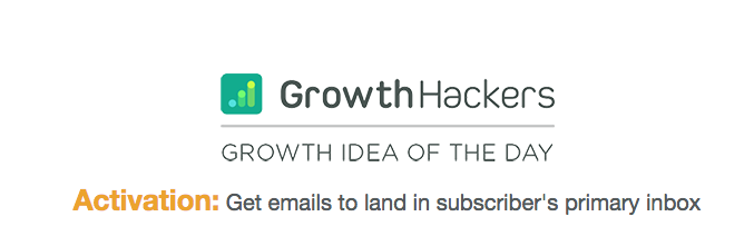 GrowthHackers Growth idea of the day newsletter