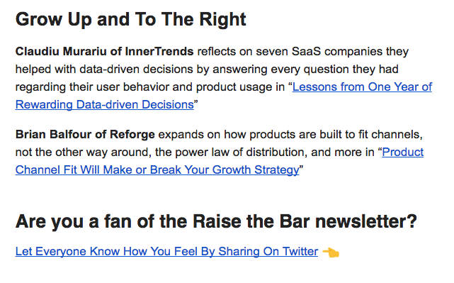 Raise The Bar Newsletter