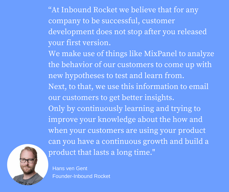 Hans van Gent on product feedback