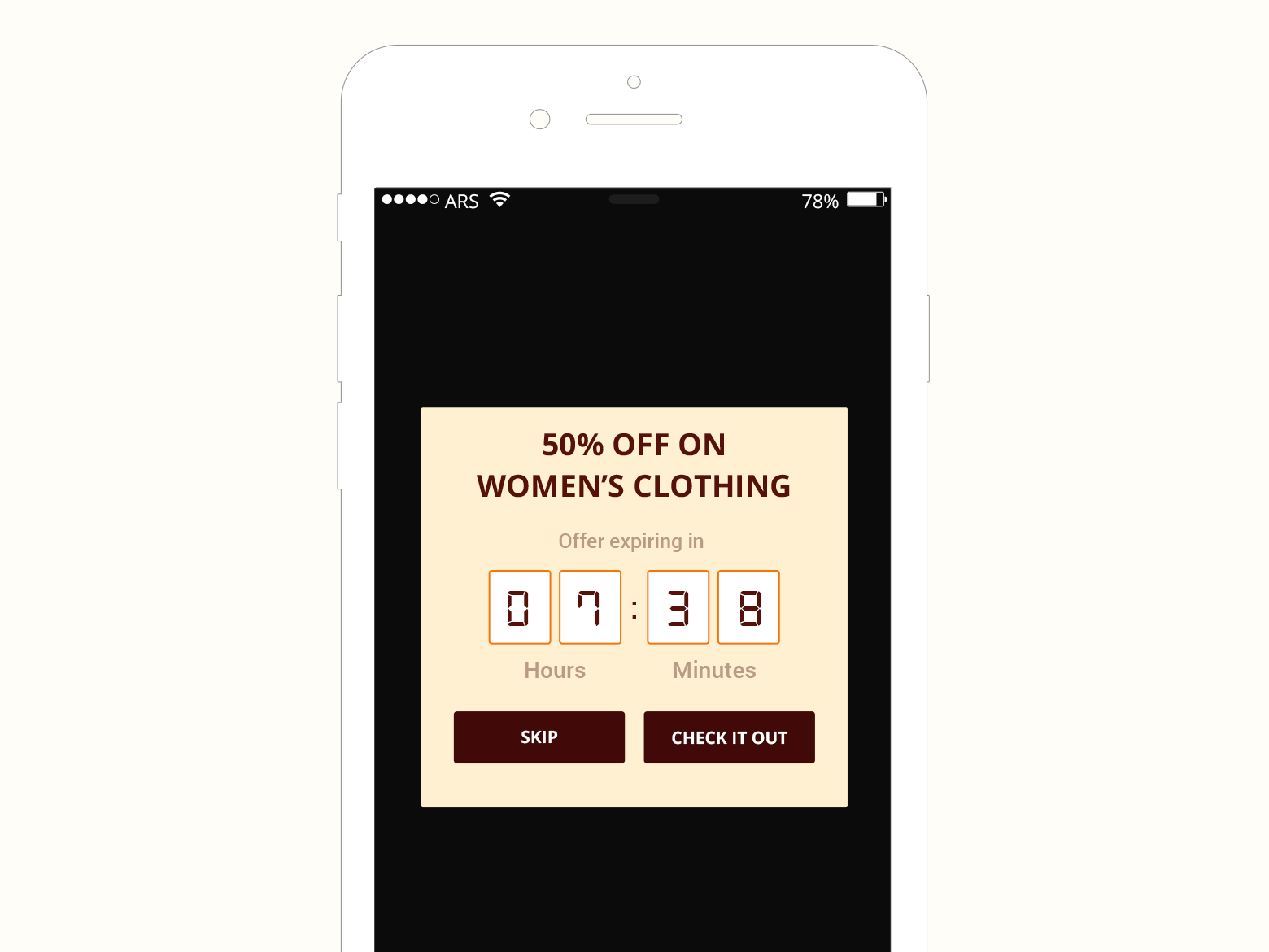consider testing a message that adds urgency when sending special offers or discounts.