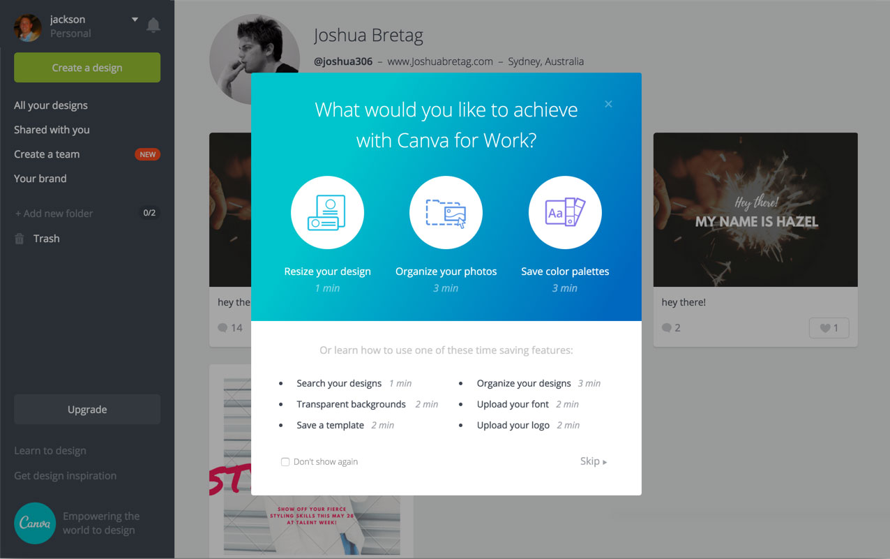 You can also experiment with sending messages that include plenty of options for your users.