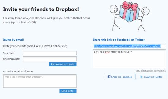 Dropbox referral