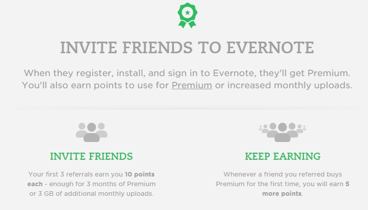 Evernote referrals