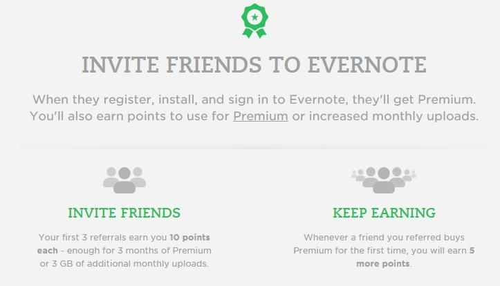 Evernote referrals
