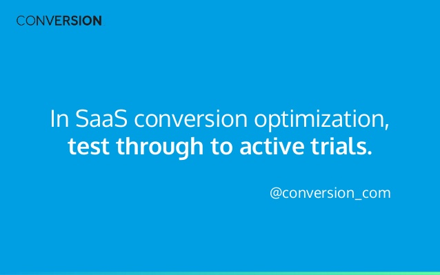 SaaS conversion optimization