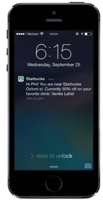Starbucks Push Notification